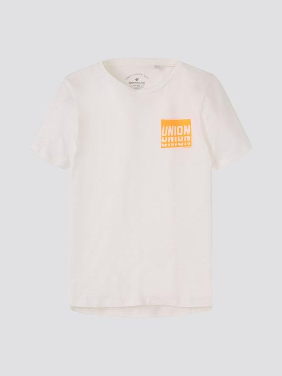 T-Shirt mit beidseitigem Print - Jungen - snow white|white - 7 - Tom Tailor E-Shop Kollektion