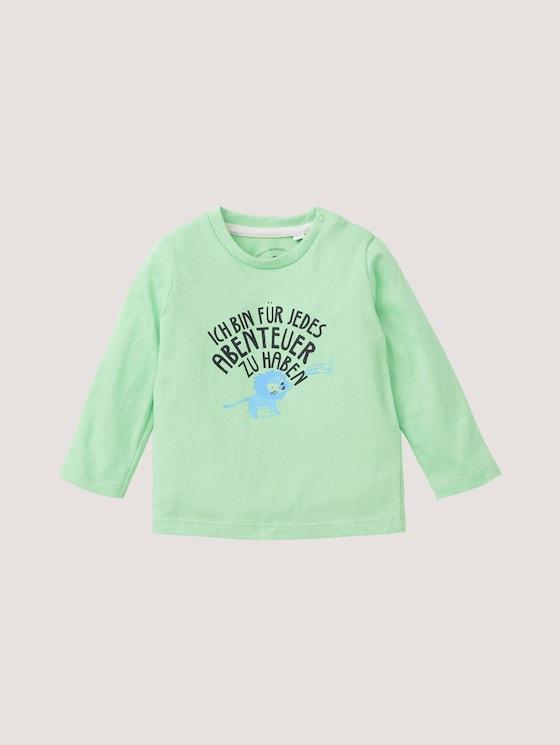 Langarmshirt mit Abenteuer-Print - Babies - summer green|green - 7 - TOM TAILOR