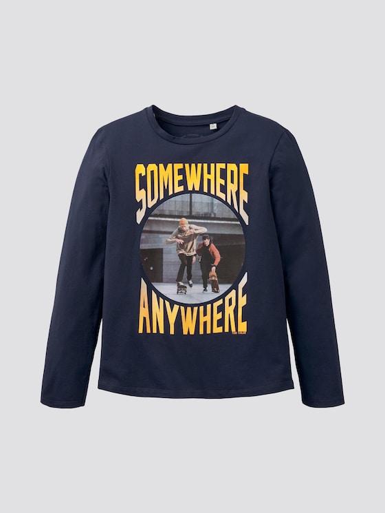 Langarmshirt mit Skater-Print - Jungen - dress blue|blue - 7 - TOM TAILOR