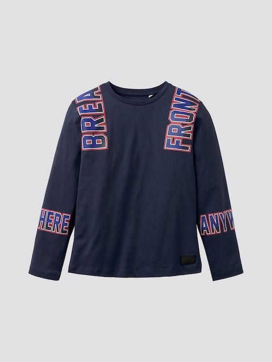 Langarmshirt mit Schriftprint - Jungen - dress blue|blue - 7 - TOM TAILOR