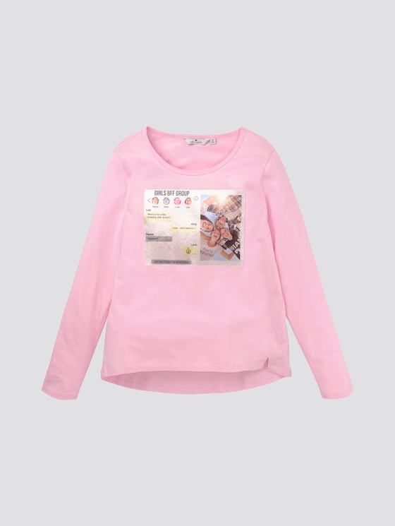 Girly Langarmshirt mit Foto-Print - Mädchen - pink lady|rose - 7 - TOM TAILOR