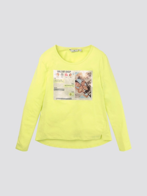 Girly Langarmshirt mit Foto-Print - Mädchen - sunny lime|green - 7 - TOM TAILOR