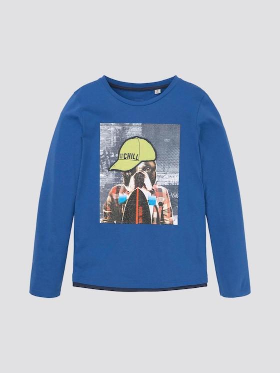 Langarmshirt mit Foto-Print - Jungen - nautical blue|blue - 7 - TOM TAILOR