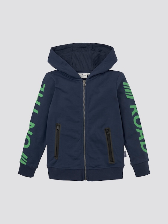 Sportliche Sweatjacke mit Print - Jungen - dress blue|blue - 7 - Tom Tailor E-Shop Kollektion