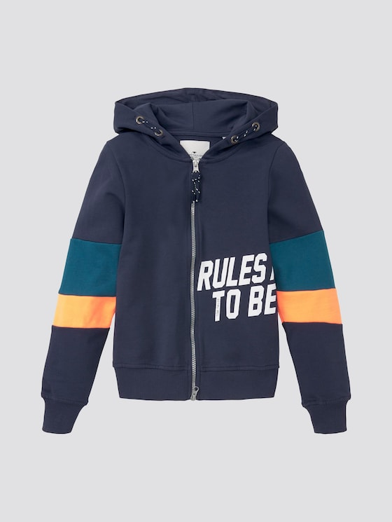 Sweatjacke mit Colorblocking - Jungen - dress blue|blue - 7 - TOM TAILOR