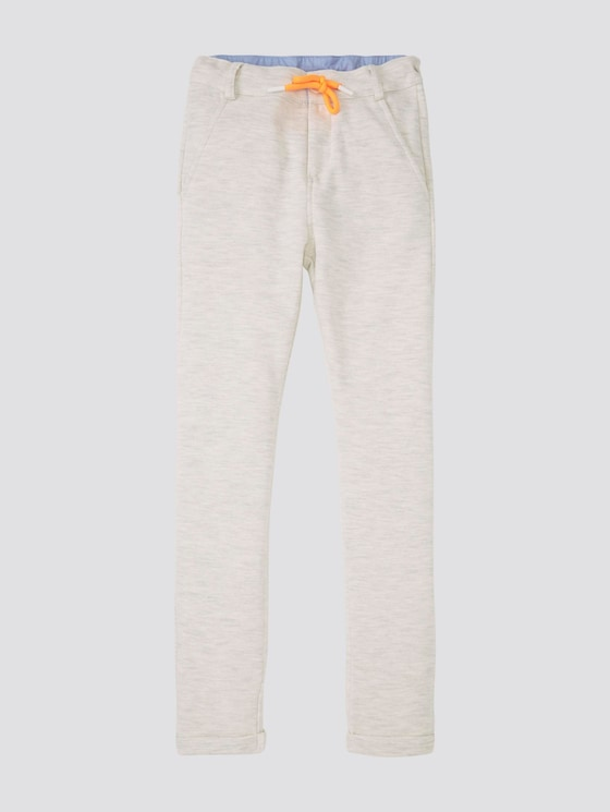 Jogginghose mit Tunnelzug - Jungen - off white melange|white - 7 - Tom Tailor E-Shop Kollektion