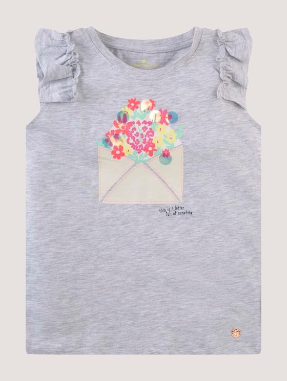 Playful T-shirt with artwork - Girls - evergray melange|gray - 7 - Tom Tailor E-Shop Kollektion