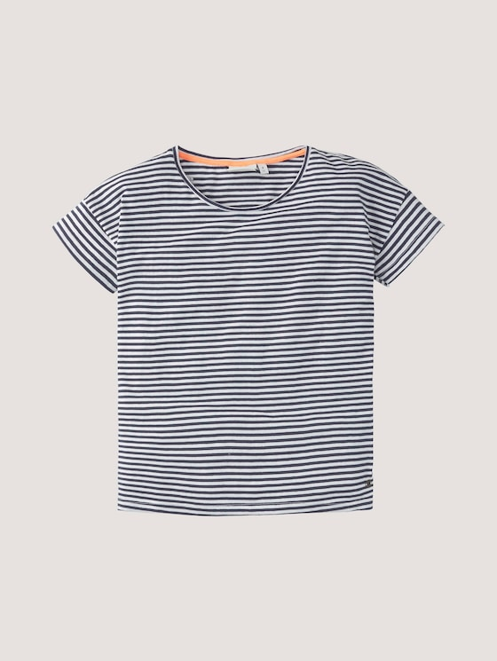 Gestreiftes T-Shirt im Loose Fit - Mädchen - peacoat|blue - 7 - Tom Tailor E-Shop Kollektion