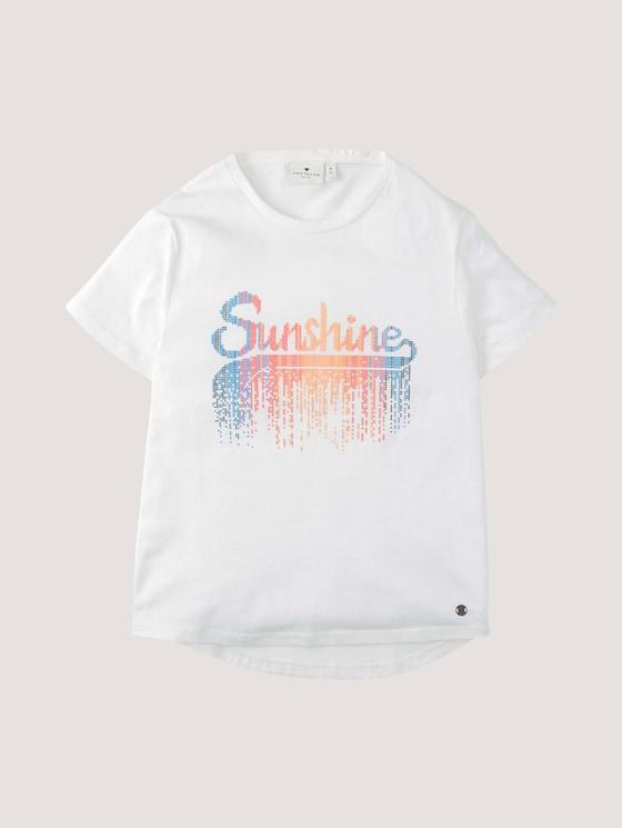 T-Shirt mit Schrift-Print - Mädchen - cloud dancer|white - 7 - Tom Tailor E-Shop Kollektion