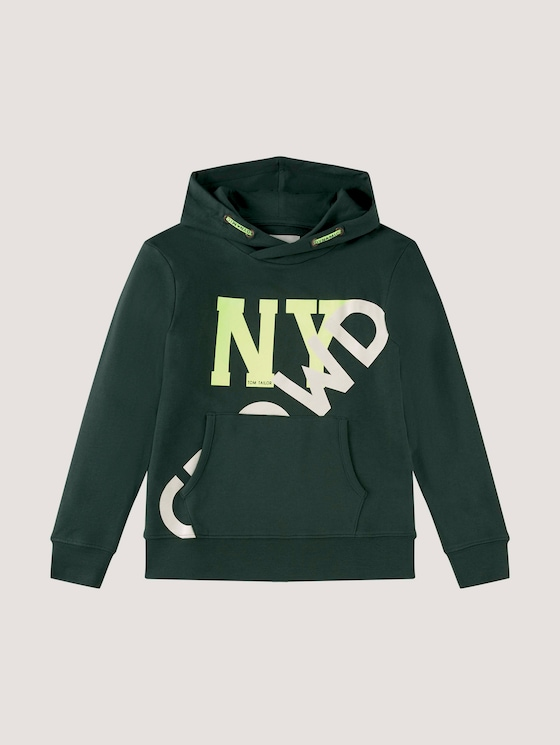 Hoodie with a large print - Boys - green gables green - 7 - Tom Tailor E-Shop Kollektion