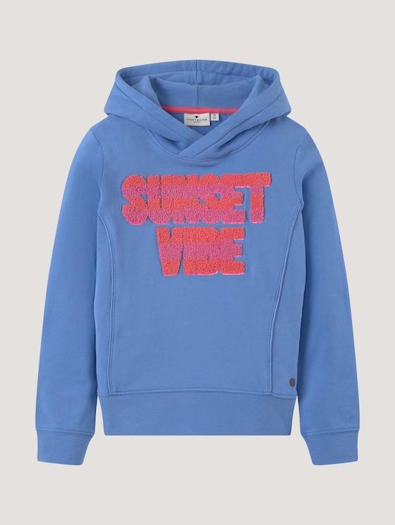 Hoodie with a large letter print - Girls - granada blue|blue - 7 - Tom Tailor E-Shop Kollektion