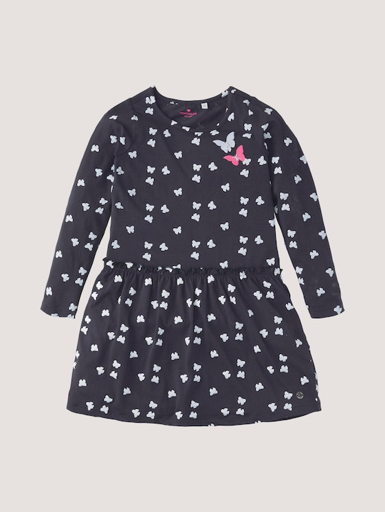Gemustertes Kleid mit Applikationen - Mädchen - night sky blue - 7 - Tom Tailor E-Shop Kollektion