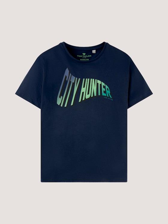 T-shirt with a print - Boys - dress blue|blue - 7 - Tom Tailor E-Shop Kollektion