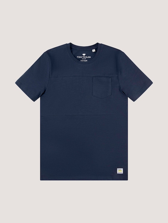 T-shirt with a chest pocket - Boys - dress blue|blue - 7 - Tom Tailor E-Shop Kollektion