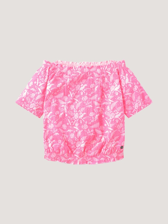 t-shirt with a print - Girls - coral neon pink pink - 7 - Tom Tailor E-Shop Kollektion