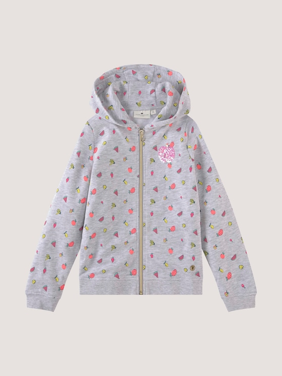Sweat-jacket with a fruit print - Girls - allover|multicolored - 7 - Tom Tailor E-Shop Kollektion