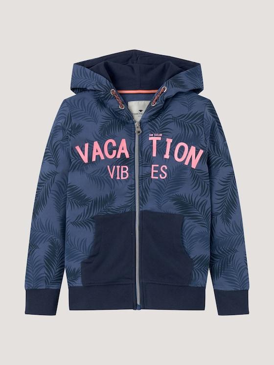 Sweatshirt with a letter print - Boys - true navy blue - 7 - Tom Tailor E-Shop Kollektion