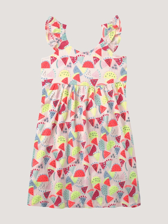 Printed dress with ruffles - Girls - allover|multicolored - 7 - Tom Tailor E-Shop Kollektion
