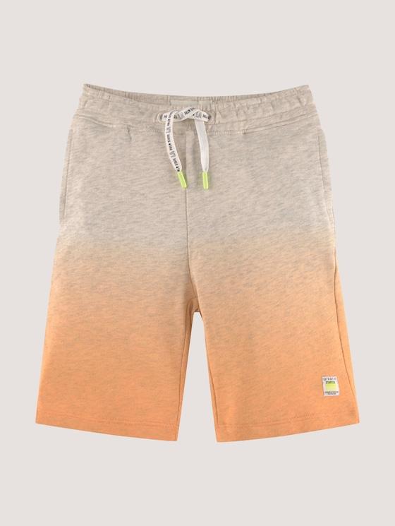 Bermuda shorts with a colour gradient - Boys - washed neon orange|orange - 7 - Tom Tailor E-Shop Kollektion