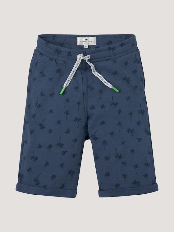 Shorts with a palm tree print - Boys - dark denim blue - 7 - Tom Tailor E-Shop Kollektion