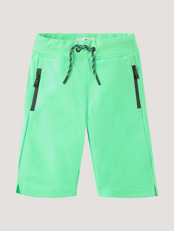 Bermudas with zip pockets - Boys - washed neon green green - 7 - Tom Tailor E-Shop Kollektion