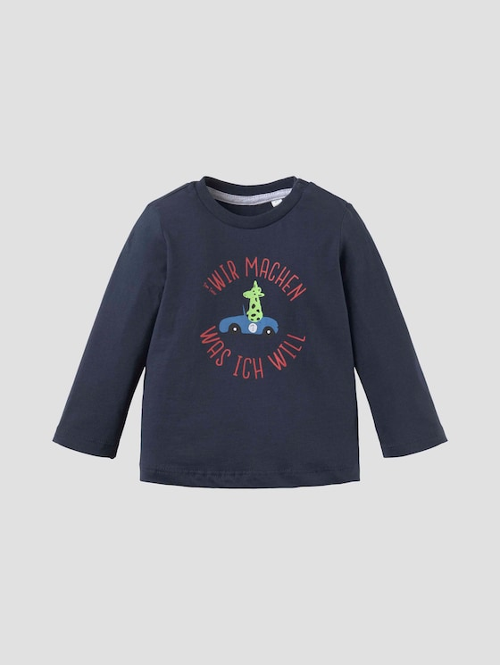 Print Langarmshirt - Babies - navy blazer|blue - 7 - Tom Tailor E-Shop Kollektion