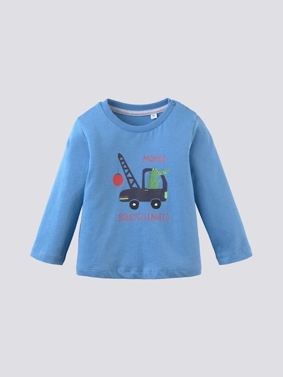 Print Langarmshirt - Babies - chalky azure|blue - 7 - Tom Tailor E-Shop Kollektion