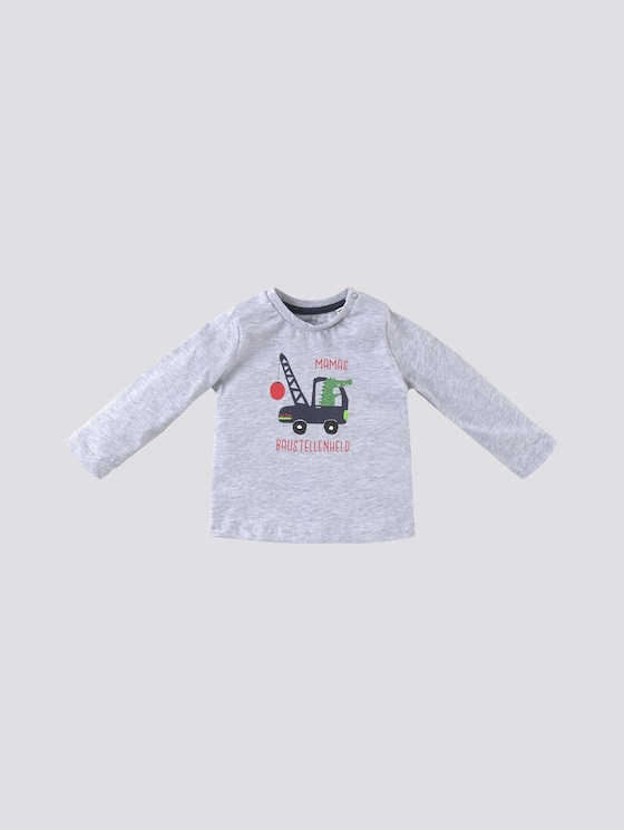 Print Langarmshirt - Babies - vapor blue melange|gray - 7 - Tom Tailor E-Shop Kollektion