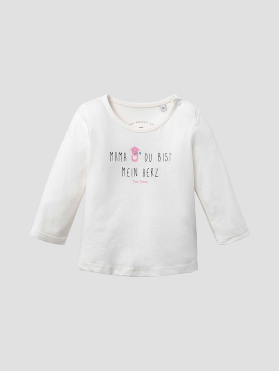 Print Langarmshirt - Babies - cloud dancer|white - 7 - Tom Tailor E-Shop Kollektion