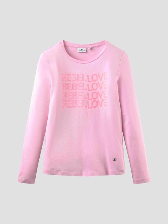 Langarmshirt mit Glitzer-Print - Mädchen - lilac sachet|rose - 7 - Tom Tailor E-Shop Kollektion