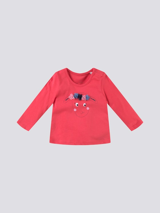 Langarmshirt mit Artwork - Babies - geranium|red - 7 - Tom Tailor E-Shop Kollektion