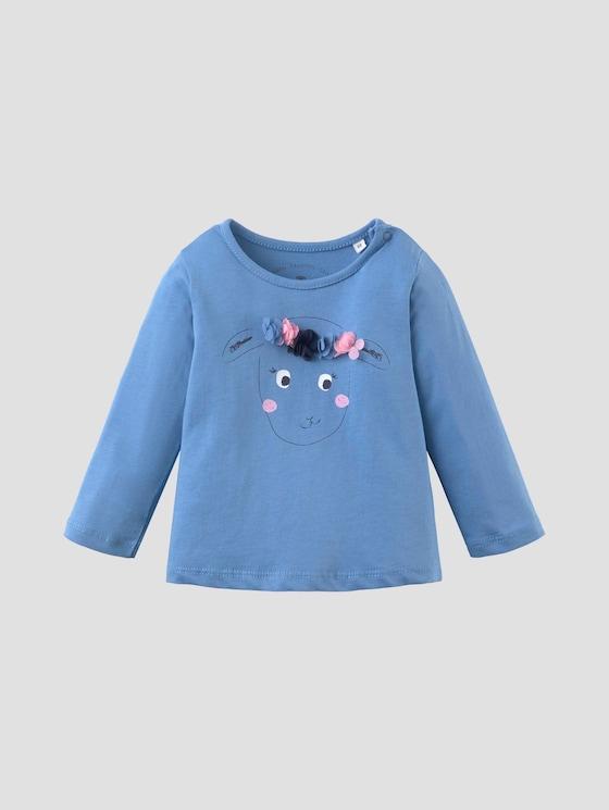 Langarmshirt mit Artwork - Babies - iris bloom|blue - 7 - Tom Tailor E-Shop Kollektion
