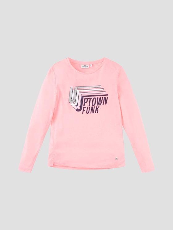 Langarmshirt mit Brustprint - Mädchen - coral neon pink|pink - 7 - Tom Tailor E-Shop Kollektion