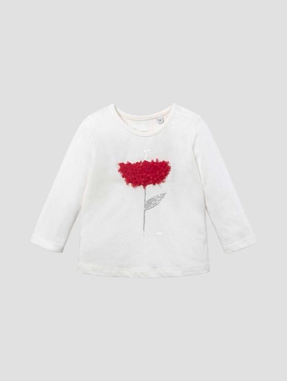 Langarmshirt mit Artwork - Babies - cloud dancer white - 7 - Tom Tailor E-Shop Kollektion