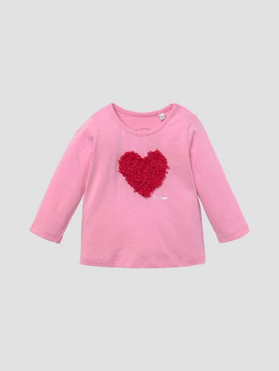 Langarmshirt mit Artwork - Babies - prism pink|rose - 7 - Tom Tailor E-Shop Kollektion