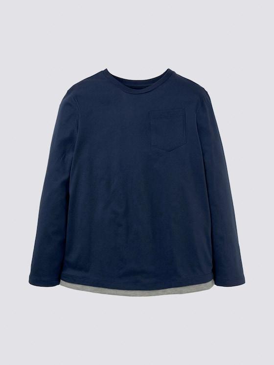 Langarmshirt mit Brusttasche - Jungen - dress blue|blue - 7 - Tom Tailor E-Shop Kollektion
