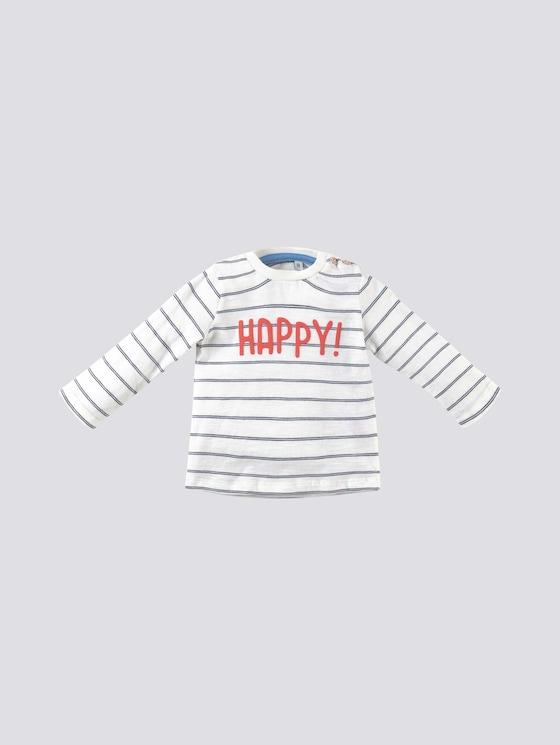 Gestreiftes Langarmshirt mit Print - Babies - navy blazer|blue - 7 - Tom Tailor E-Shop Kollektion