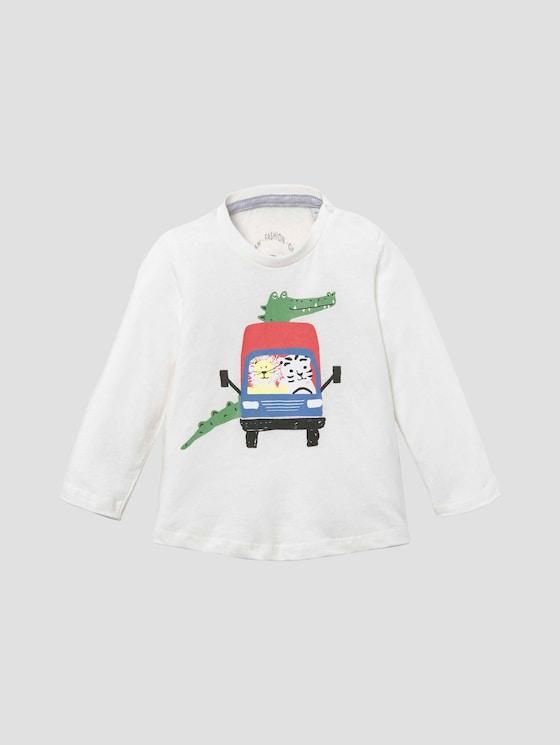 Langarmshirt mit beidseitigem Print - Babies - cloud dancer|white - 7 - Tom Tailor E-Shop Kollektion