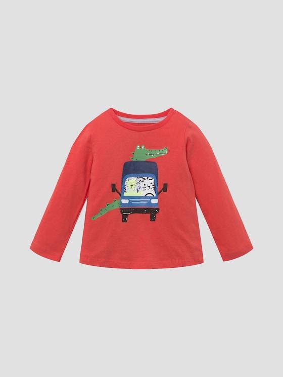 Langarmshirt mit beidseitigem Print - Babies - livid scarlet|red - 7 - Tom Tailor E-Shop Kollektion