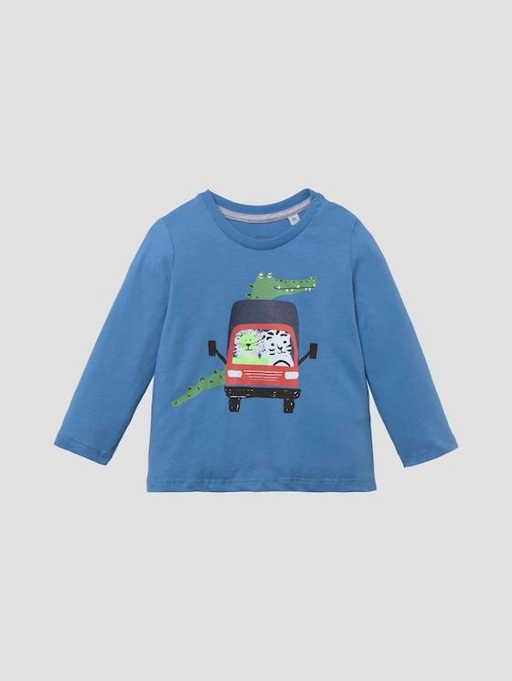 Langarmshirt mit beidseitigem Print - Babies - chalky azure|blue - 7 - Tom Tailor E-Shop Kollektion