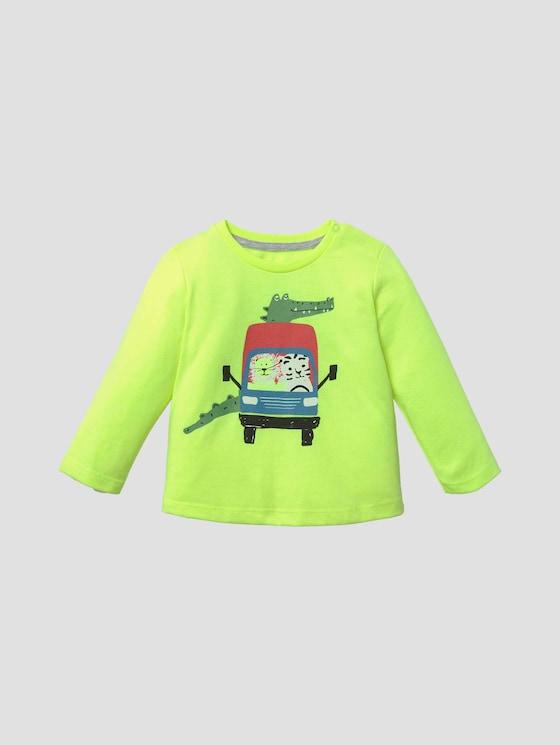 Langarmshirt mit beidseitigem Print - Babies - flashy lime|green - 7 - Tom Tailor E-Shop Kollektion