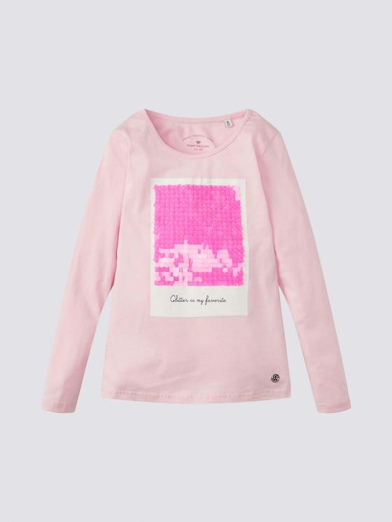 Niedliches Langarmshirt mit Artwork - Mädchen - lilac sachet|rose - 7 - Tom Tailor E-Shop Kollektion