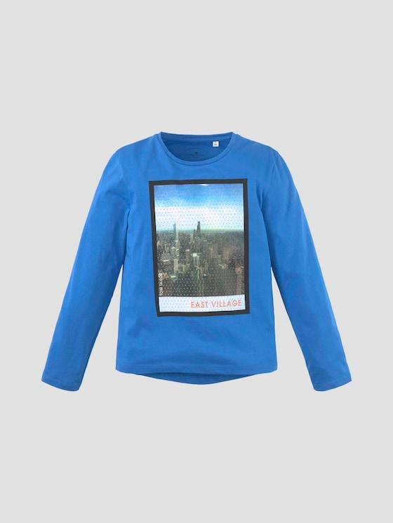 Langarmshirt mit Fotoprint - Jungen - strong blue - 7 - Tom Tailor E-Shop Kollektion