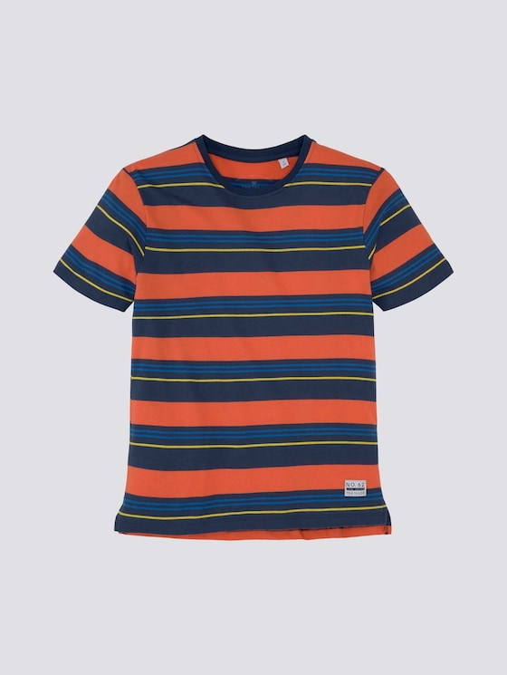 Bunt gestreiftes T-Shirt - Jungen - dress blue|blue - 7 - Tom Tailor E-Shop Kollektion