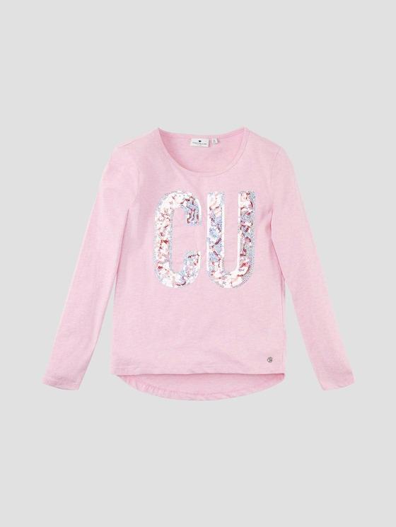 Langarmshirt mit Paillettenartwork - Mädchen - lilac sachet|rose - 7 - Tom Tailor E-Shop Kollektion
