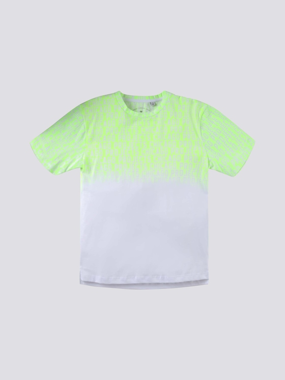 T-shirt with a gradient print - Boys - flashy lime|green - 7 - Tom Tailor E-Shop Kollektion