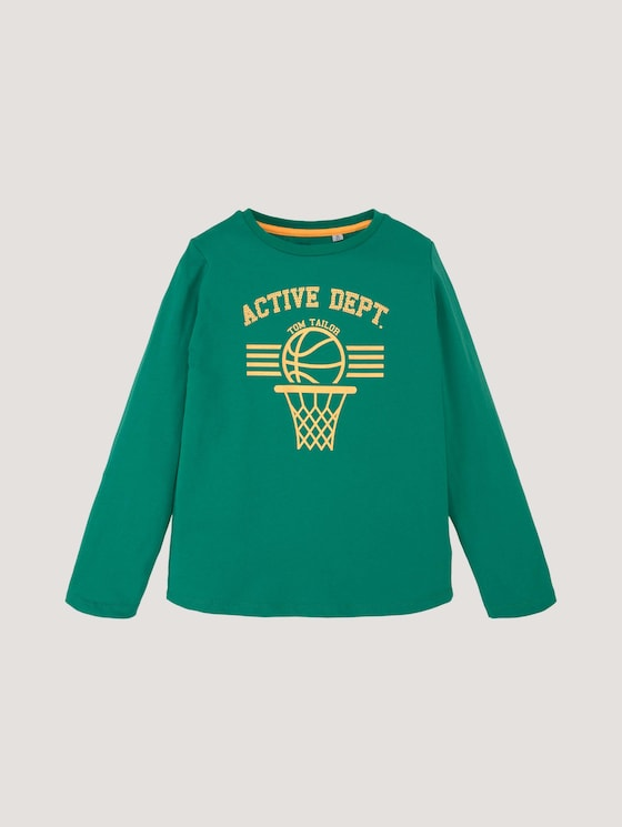 Langarmshirt mit sportlichem Print - Jungen - greenlake|green - 7 - Tom Tailor E-Shop Kollektion