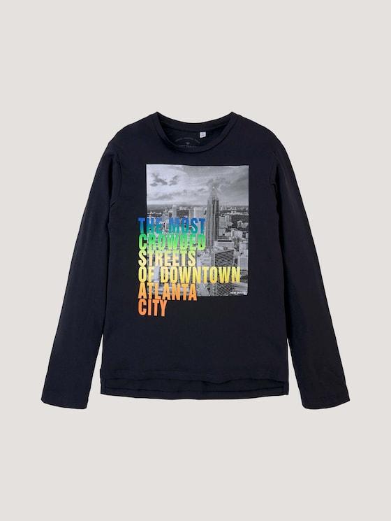 Langarmshirt mit Fotoprint - Jungen - vulcan gray - 7 - Tom Tailor E-Shop Kollektion