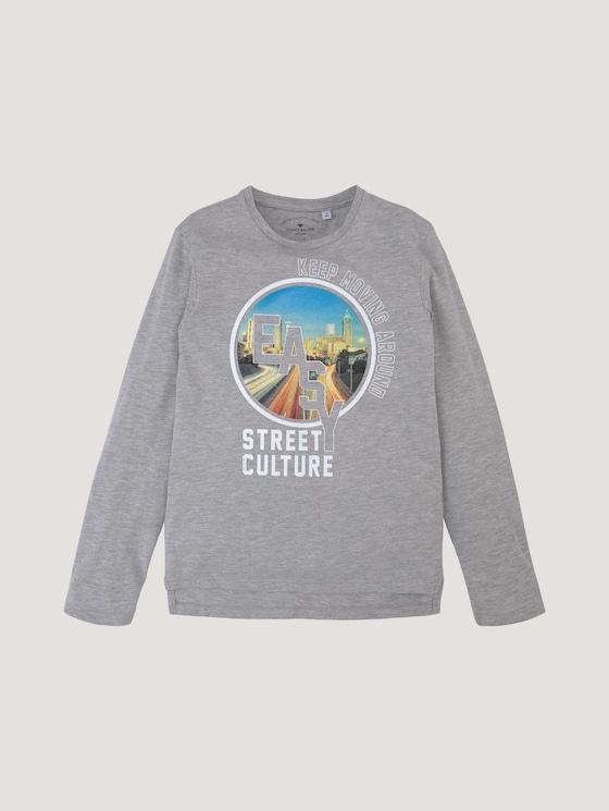 Hemd met lange mouwen en fotoprint - Jongens - drizzle melange - 7 - Tom Tailor E-Shop Kollektion