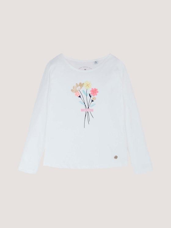 Langarmshirt mit Applikation - Mädchen - cloud dancer|white - 7 - Tom Tailor E-Shop Kollektion